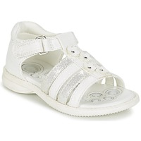 Schoenen Meisjes Sandalen / Open schoenen Chicco CAROTA Wit / Zilver