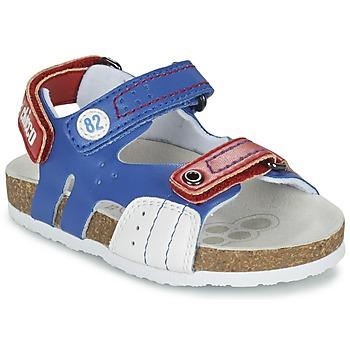 Schoenen Jongens Sandalen / Open schoenen Chicco HELIO Blauw / Wit / Rood
