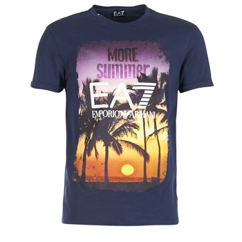Textiel Heren T-shirts korte mouwen Emporio Armani EA7 TRAIN GRAPHIC Blauw