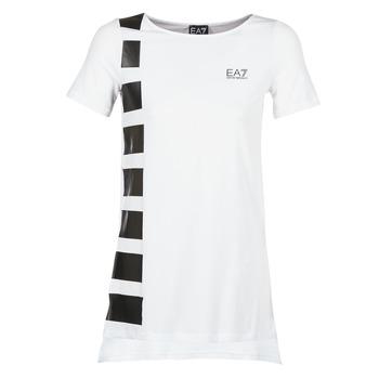 Textiel Dames Tunieken Emporio Armani EA7 TRAIN MASTER Wit / Zwart