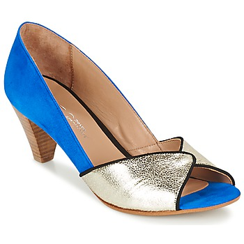 Schoenen Dames pumps Betty London GABYN Blauw / Goud
