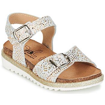 Schoenen Meisjes Sandalen / Open schoenen Citrouille et Compagnie GAUFRETTE Goud / Wit