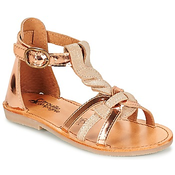 Schoenen Meisjes Sandalen / Open schoenen Citrouille et Compagnie GITANOLO Beige / Koper