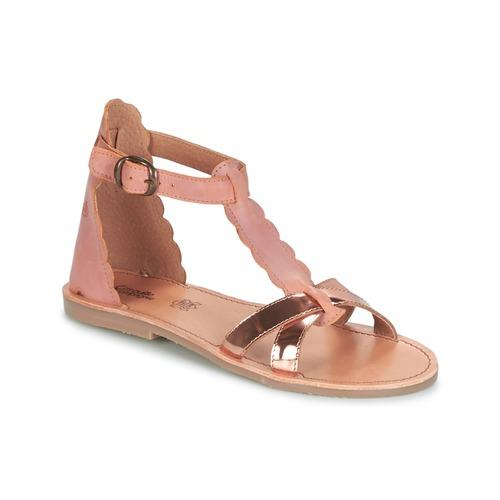 Schoenen Meisjes Sandalen / Open schoenen Citrouille et Compagnie GUBUDU Roze / Goud