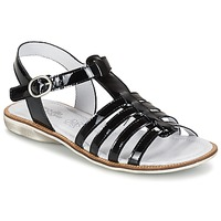 Schoenen Meisjes Sandalen / Open schoenen Citrouille et Compagnie GROUFLA Zwart