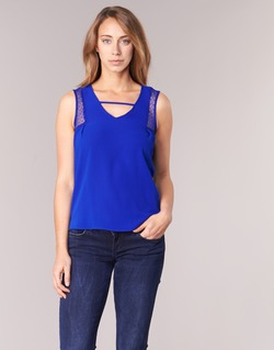 Textiel Dames Mouwloze tops Naf Naf OPIPA Blauw