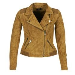 Textiel Dames Leren jas / kunstleren jas Only JOSEPHINE Cognac