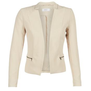 Textiel Dames Jasjes / Blazers Only MADELINE Beige