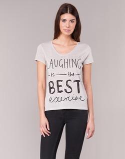 Textiel Dames T-shirts korte mouwen Only MUSIC CAN CHANGE Ecru
