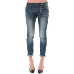 Textiel Dames ¾ jeans & 7/8 jeans Dress Code Jean Remixx Bleu Delavé RX860 Blauw