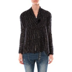 Textiel Dames Truien De Fil En Aiguille Gilet  Maella Noir FT15 Zwart