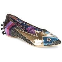 Schoenen Dames Ballerina's Irregular Choice GROUND CONTROL Zwart / Goud