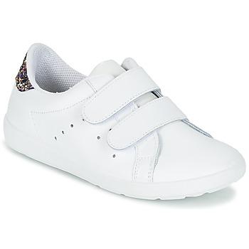 Schoenen Meisjes Lage sneakers Citrouille et Compagnie GRANOU Wit / Pailletten