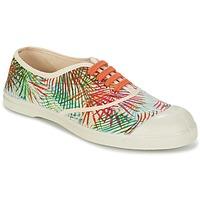 Schoenen Dames Lage sneakers Bensimon TENNIS FEUILLES EXOTIQUES Ecru / OranJe / Groen