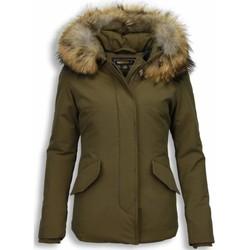 Textiel Dames Parka jassen Beluomo Bontjassen - Dames Winterjas Wooly Kort - Bontkraag 25