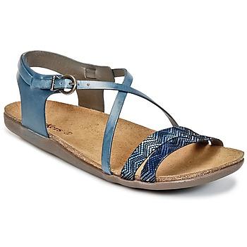 Schoenen Dames Sandalen / Open schoenen Kickers ATOMIUM Blauw / Print
