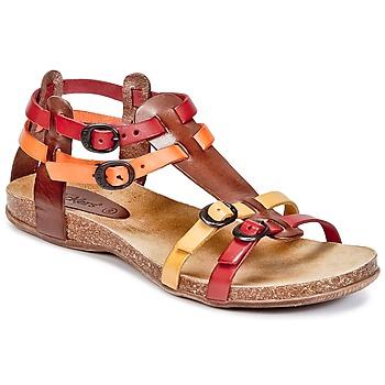 Schoenen Dames Sandalen / Open schoenen Kickers ANA Bruin / Rood / OranJe