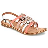 Schoenen Dames Sandalen / Open schoenen Kickers DIXMILLE Zilver / Roze / Wit