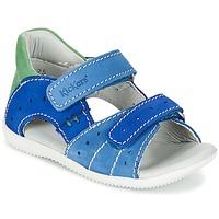 Schoenen Jongens Sandalen / Open schoenen Kickers BOPING Blauw / Groen