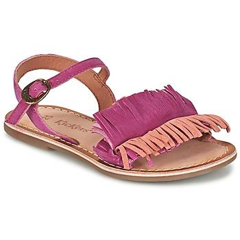 Schoenen Meisjes Sandalen / Open schoenen Kickers DIXFROUFROU KID Fushia / Koraal