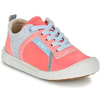 Schoenen Meisjes Lage sneakers Kickers ZIGUY Koraal / Blauw