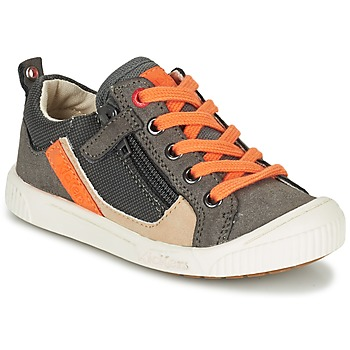 Schoenen Jongens Lage sneakers Kickers ZIGZAGUER Grijs / OranJe