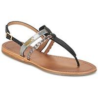 Schoenen Dames Sandalen / Open schoenen Les Tropéziennes par M Belarbi BARAKA Zwart / Zilver