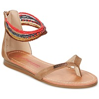 Schoenen Meisjes Sandalen / Open schoenen Les Tropéziennes par M Belarbi GINKGO Bruin