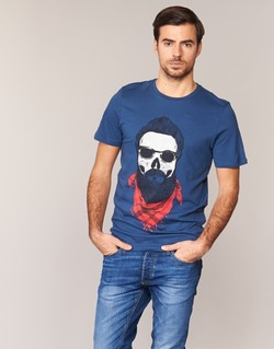 Textiel Heren T-shirts korte mouwen Jack & Jones TRICK ORIGINALS Marine