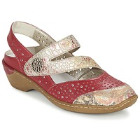 Schoenen Dames Sandalen / Open schoenen Rieker KOLIPEDI Rood / Goud