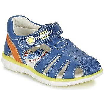 Schoenen Jongens Sandalen / Open schoenen Pablosky GUADOK Blauw