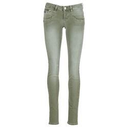 Textiel Dames 5 zakken broeken Freeman T.Porter ALEXA SLIM NEW MAGIC COLOR Kaki