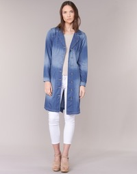Textiel Dames Trenchcoats Cream DENIM TRENCHCOAT Denim