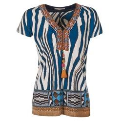 Textiel Dames T-shirts korte mouwen Derhy JAQUERIE Blauw
