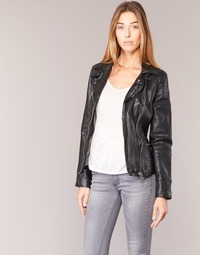 Textiel Dames Leren jas / kunstleren jas Oakwood 62065 Zwart