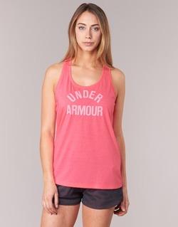 Textiel Dames Mouwloze tops Under Armour THREADBORNET TWIST GRAPHIC Roze