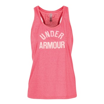 Textiel Dames Mouwloze tops Under Armour THREADBORNET TWIST GRAPHIC Roze
