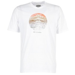 Textiel Heren T-shirts korte mouwen Columbia CSC MOUNTAIN SUNSET Wit