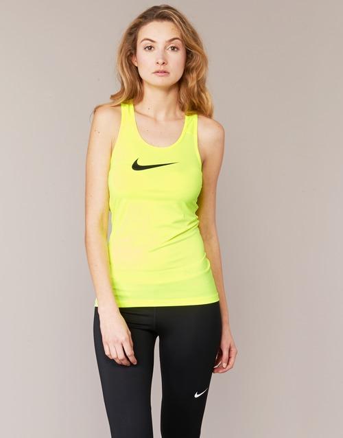 Textiel Dames Mouwloze tops Nike NIKE PRO COOL TANK Geel