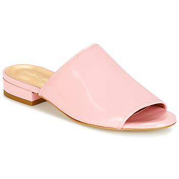 Schoenen Dames Leren slippers Mellow Yellow BYTATANE Roze