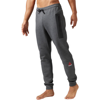 Textiel Heren Trainingsbroeken Reebok Sport Quik Cotton Joggingbroek Grijs