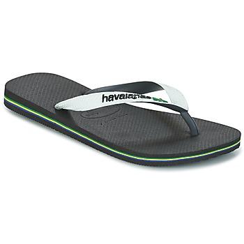 Schoenen Teenslippers Havaianas BRASIL MIX Wit / Zwart