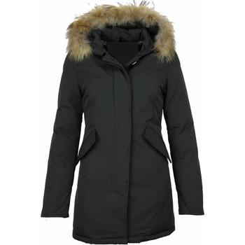 Textiel Dames Parka jassen Thebrand Bontjassen Winterjas Wooly Lang Bontkraag Parka Steekzakken Zwart