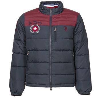 Textiel Heren Dons gevoerde jassen U.S Polo Assn. ST.MORITZ Marine / Bordeau