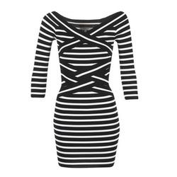 Textiel Dames Korte jurken Morgan RBEST Zwart / Ecru