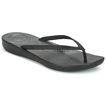 Schoenen Dames Teenslippers FitFlop IQUSHION ERGONOMIC FLIP FLOP Zwart