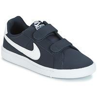 Schoenen Jongens Lage sneakers Nike COURT ROYALE PRESCHOOL Blauw / Wit