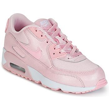 Schoenen Meisjes Lage sneakers Nike AIR MAX 90 MESH SE PRESCHOOL Roze