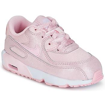 Schoenen Meisjes Lage sneakers Nike AIR MAX 90 MESH SE TODDLER Roze