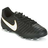 Schoenen Kinderen Voetbal Nike TIEMPO RIO IV FG JUNIOR Zwart / Wit